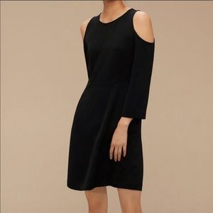 Aritzia Wilfred Vidal Cold Shoulder Dress Black